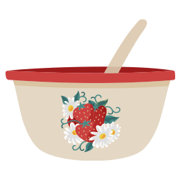 Vintage Berry Bowl Icon