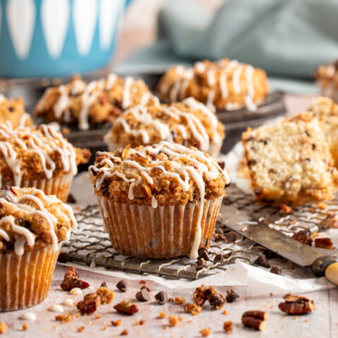 Chocolate Chip Coffee Cake Muffins