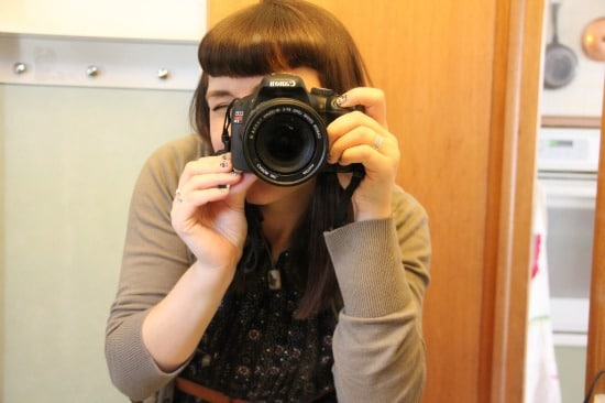A photo of me taking a photo with my camera