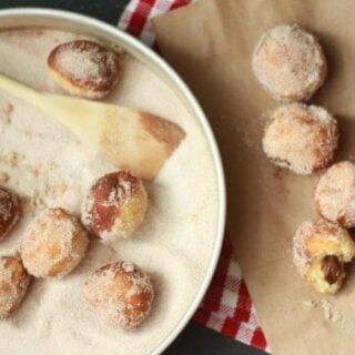 Chocolate Filled Mini Donuts