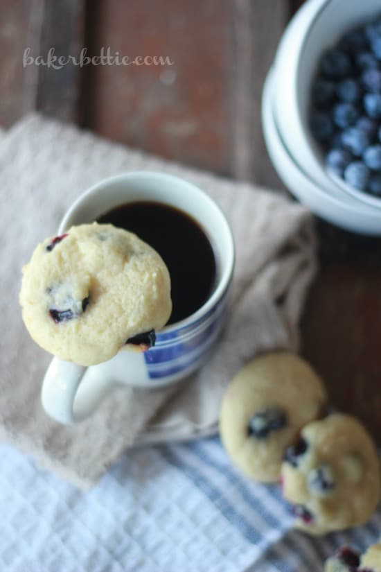 Soft and Fluffy Blueberry Lemon Cookies- Baker Bettie
