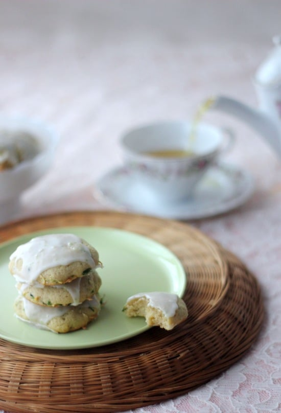 Zucchini and Jalapeno Cookies with Sweet Lime Glaze
