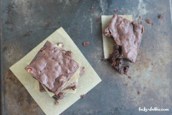Flourless Bittersweet Chocolate Brownies