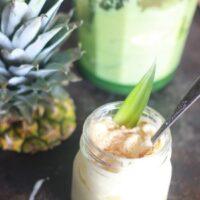 Pineapple sorbet in mason jar