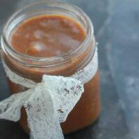 Cinnamon Salted Caramel Sauce (vegan) in a jar