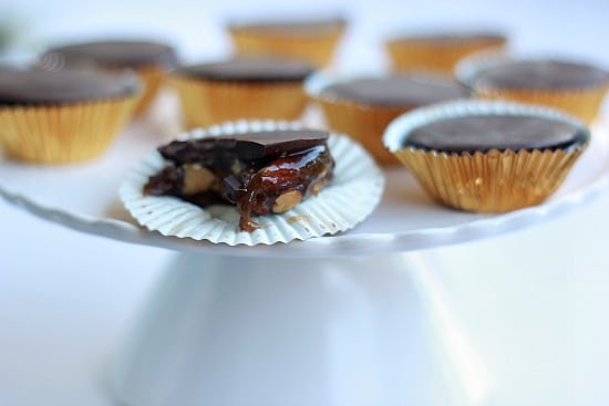 Dark Chocolate Turtles with Smoked Almonds (Vegan)