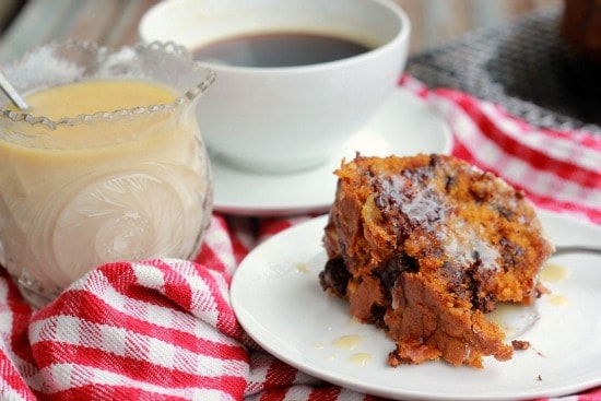 Pumpkin Coffee Cake with Walnuts and Chocolate Chips (vegan)