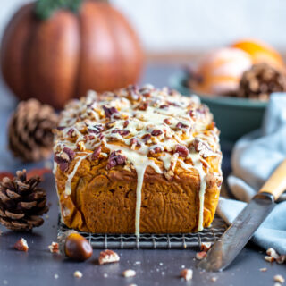 Moist Pumpkin Bread with Pecans