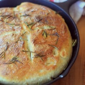No-Knead Skillet Bread in a cast iron