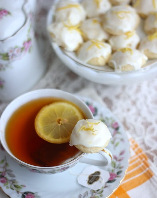 Lemon Goat Cheese Cookies and a cup of tea