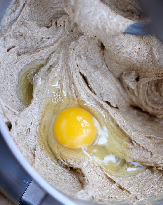 An egg added into the butter and sugar mixture after it has been creamed together.