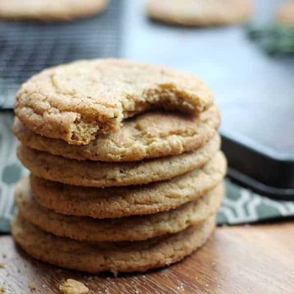Chewy Brown Sugar Snickerdooles with Rosemary