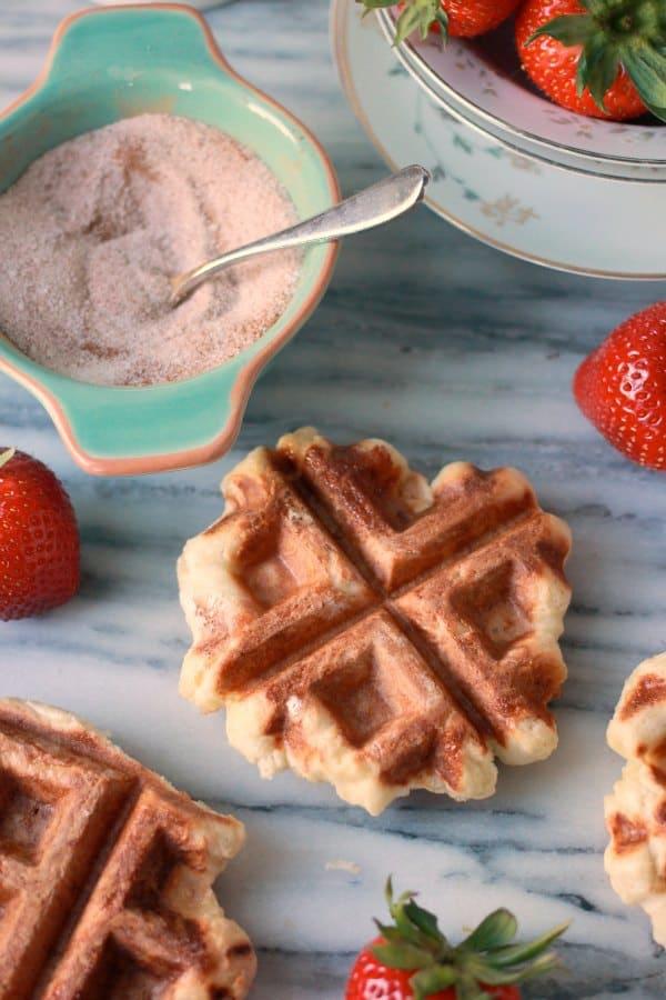 Real Belgian Waffle Recipe, Liege Waffles- Baker Bettie