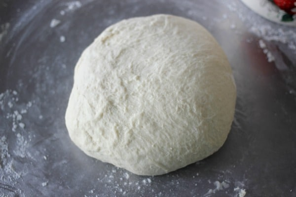 dough after kneading, ready for proofing