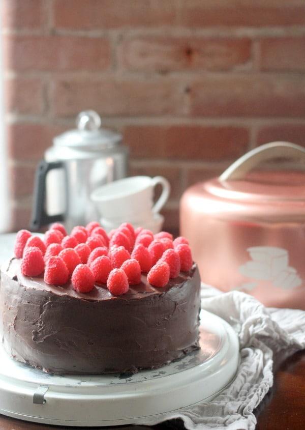 Devils Food Cake Recipe with Ganache Frosting- Baker Bettie