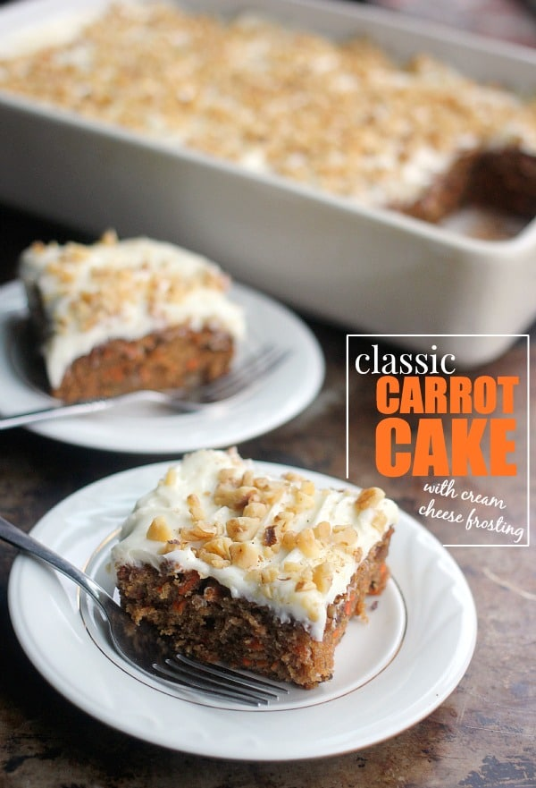 Classic Carrot Cake with Cream Cheese Frosting- Baker Bettie