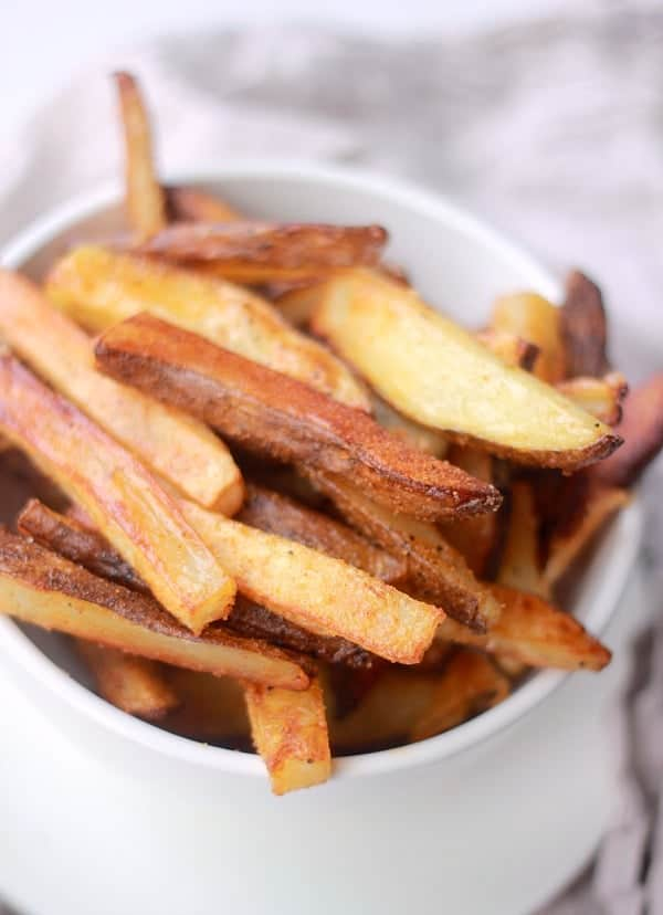 Crispy Oven Baked Fries in a dish