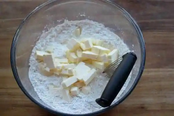 Cutting in the fat for biscuits