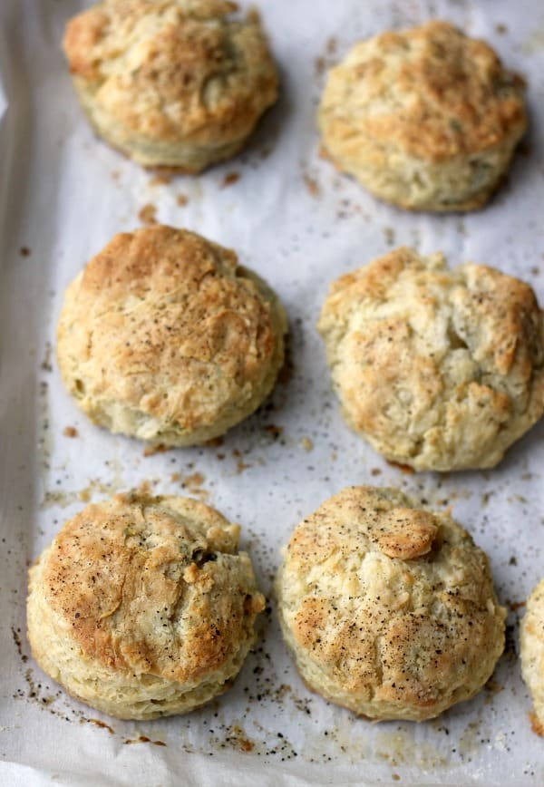 Freeze and Bake Biscuits, Black Pepper and Sage Buttermilk Biscuits