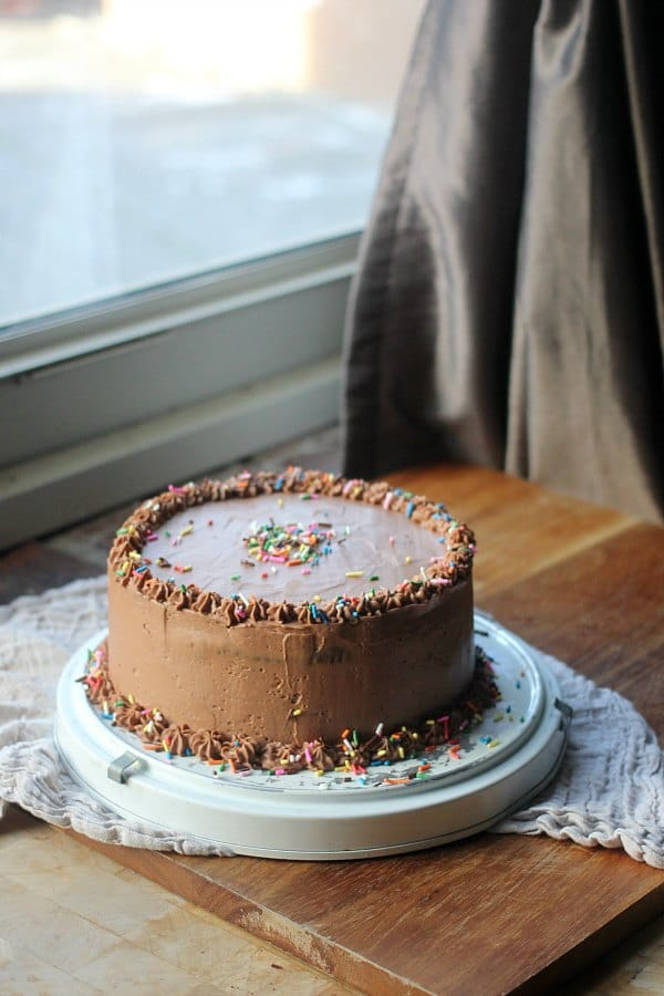 Moist Chocolate Cake With Swiss Meringue Buttercream