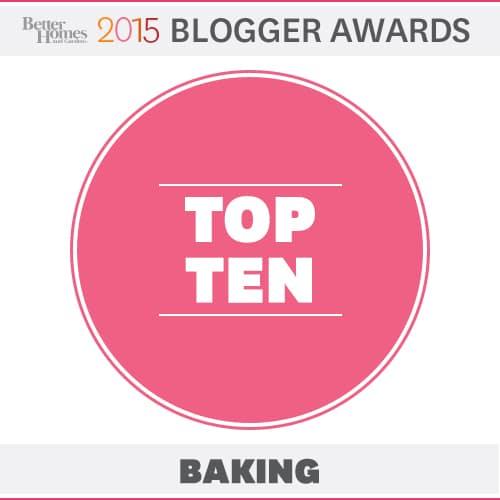 Logo for 'Better Homes 2015 Blogger Awards: Top Ten Baking'