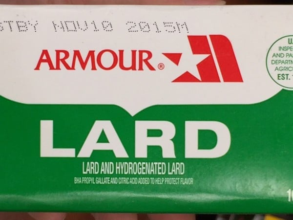 Commercial lard brand Armour