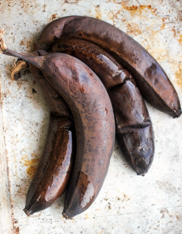 Bananas that have been ripened in the oven