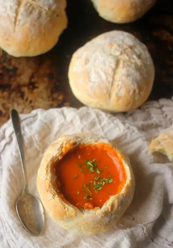 4 Ingredient Easy Bread Bowl Recipe | Baker Bettie