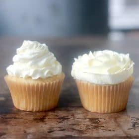 The best buttercream frosting topped cupcakes
