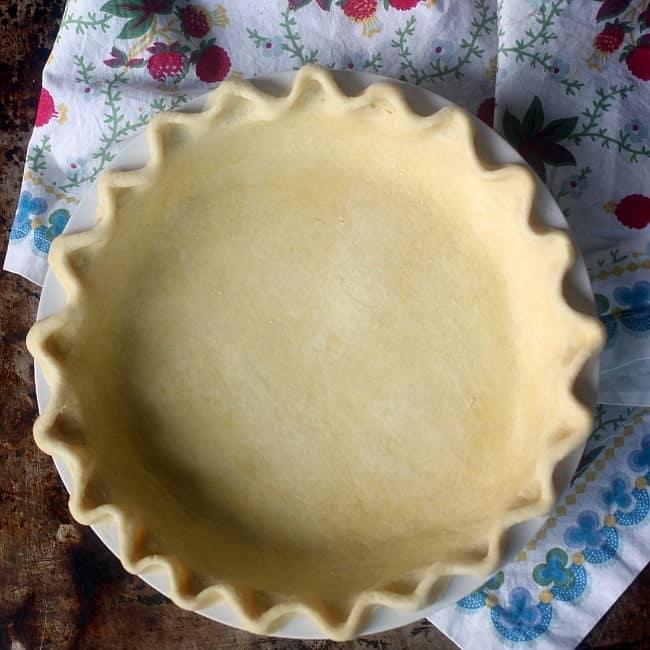Unbaked pie crust