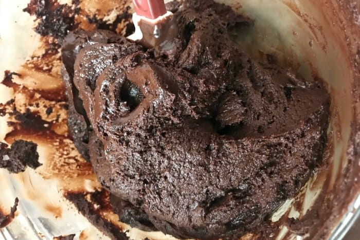 Fudge almost melted in bowl