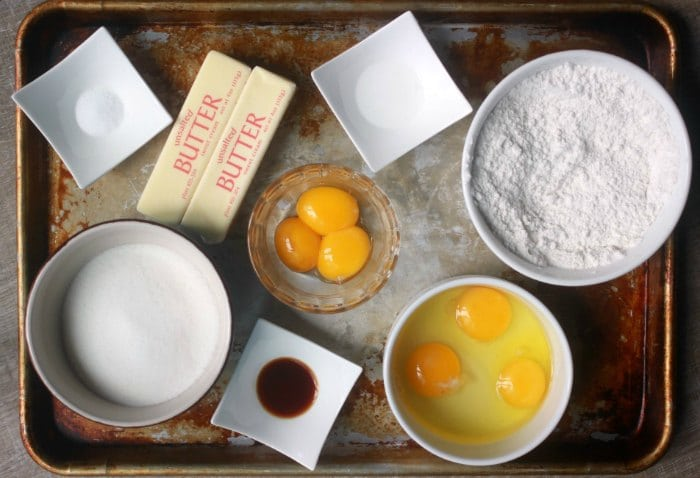 Ingredients measured out for a recipe (mise en place)