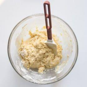 Mixing Dough in bowl