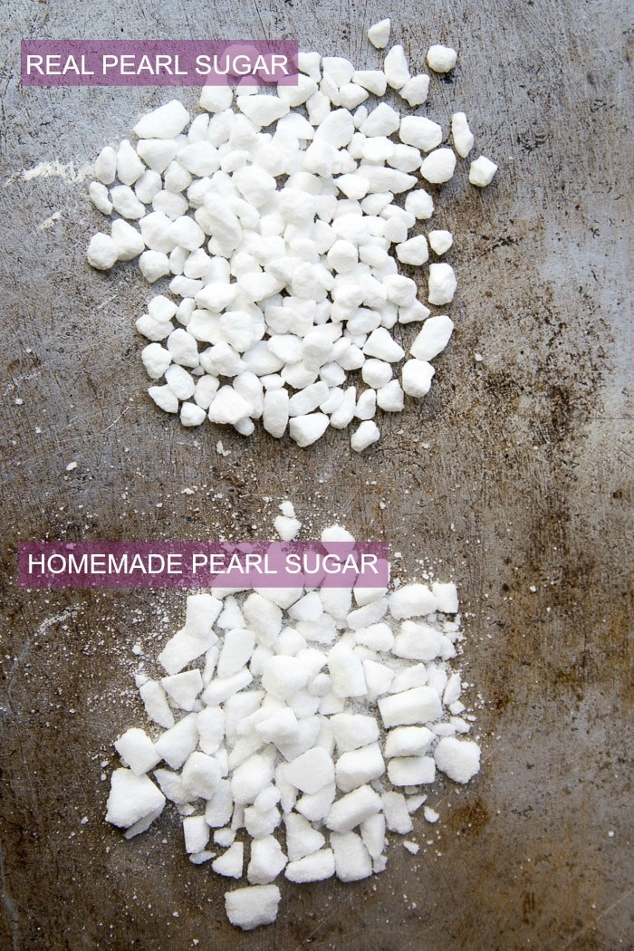 Real pearl sugar vs homemade pearl sugar