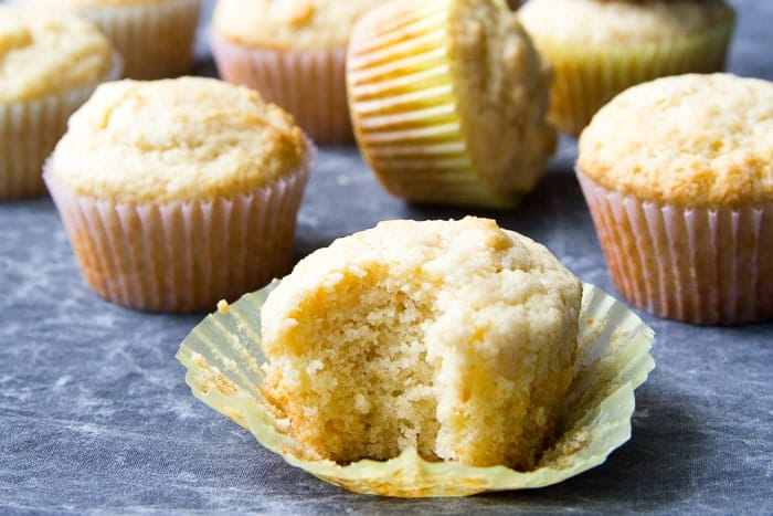 Basic muffin with a bite taken out