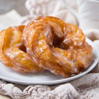 French Cruller Donuts on a plate