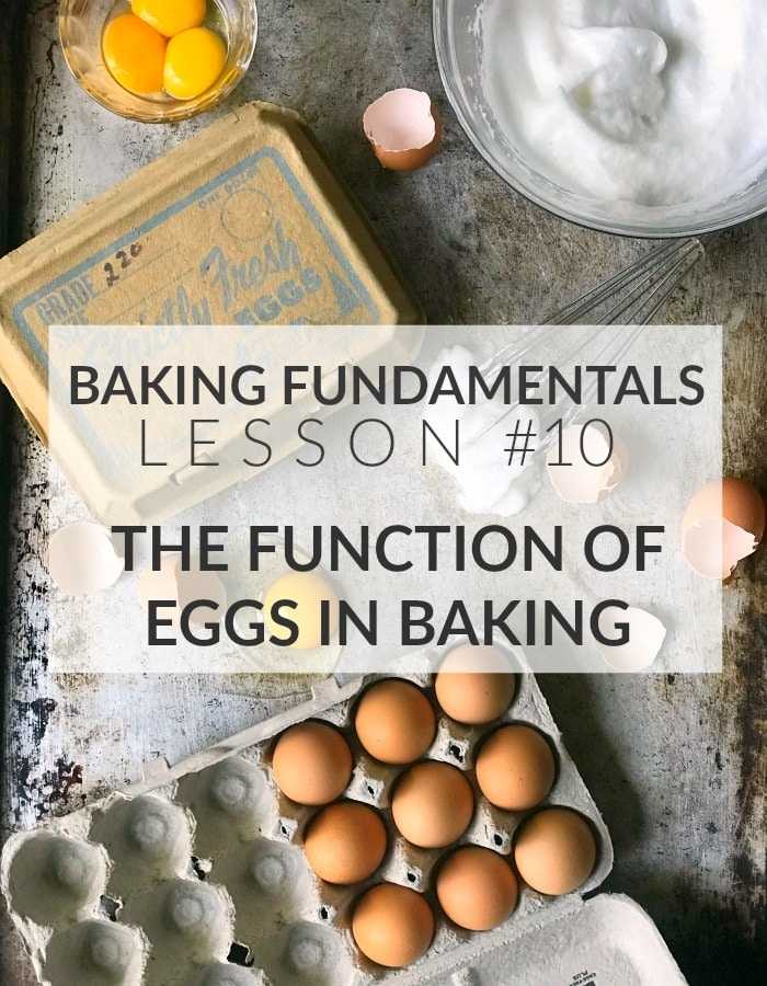 "Text image ""Baking Fundamentals Lesson #10: The Function of Eggs in Baking"""