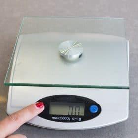 A scale set to zero