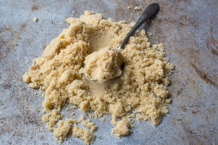 Light brown sugar spread out