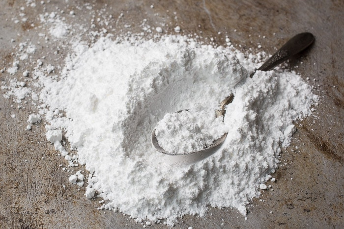A pile of powdered sugar
