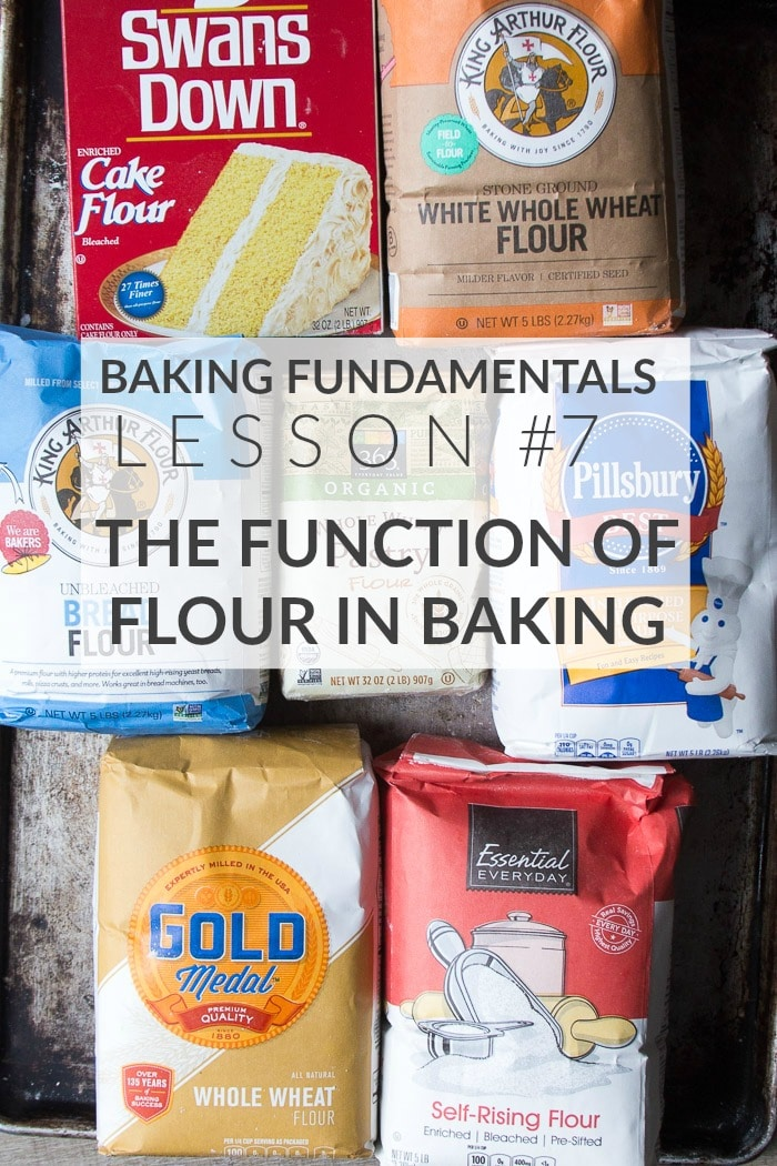 The function of flour in baking