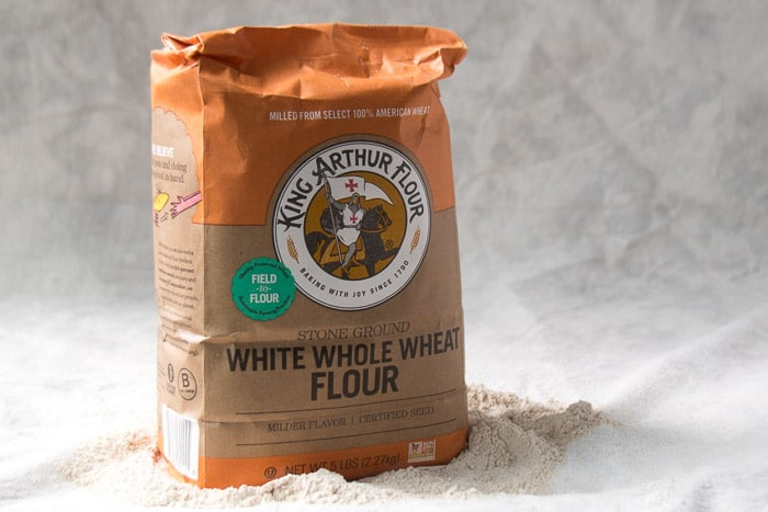 A package of White whole wheat flour