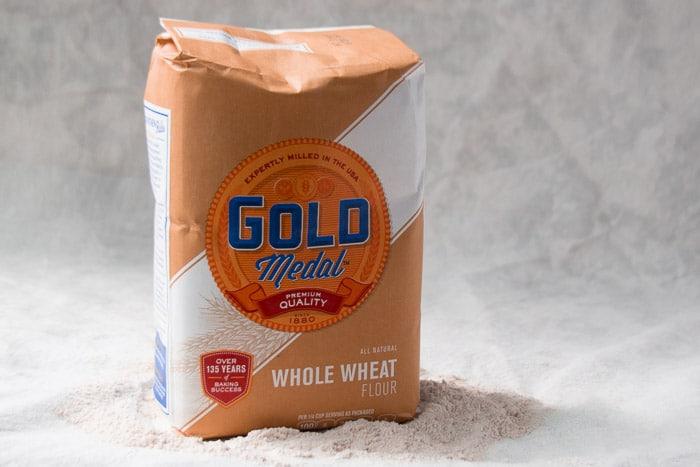 A bag of whole wheat flour