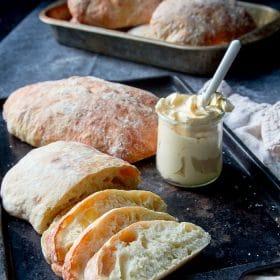 baked ciabatta bread