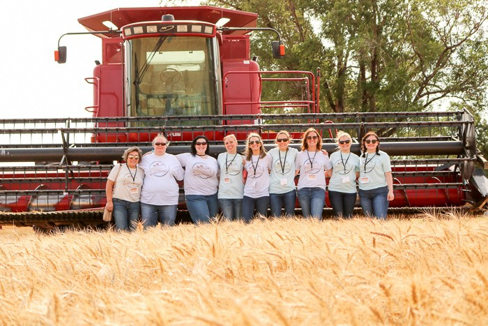 All of us standing together in the wheat fields