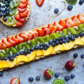 Classic Fruit Tart with Custard Filling