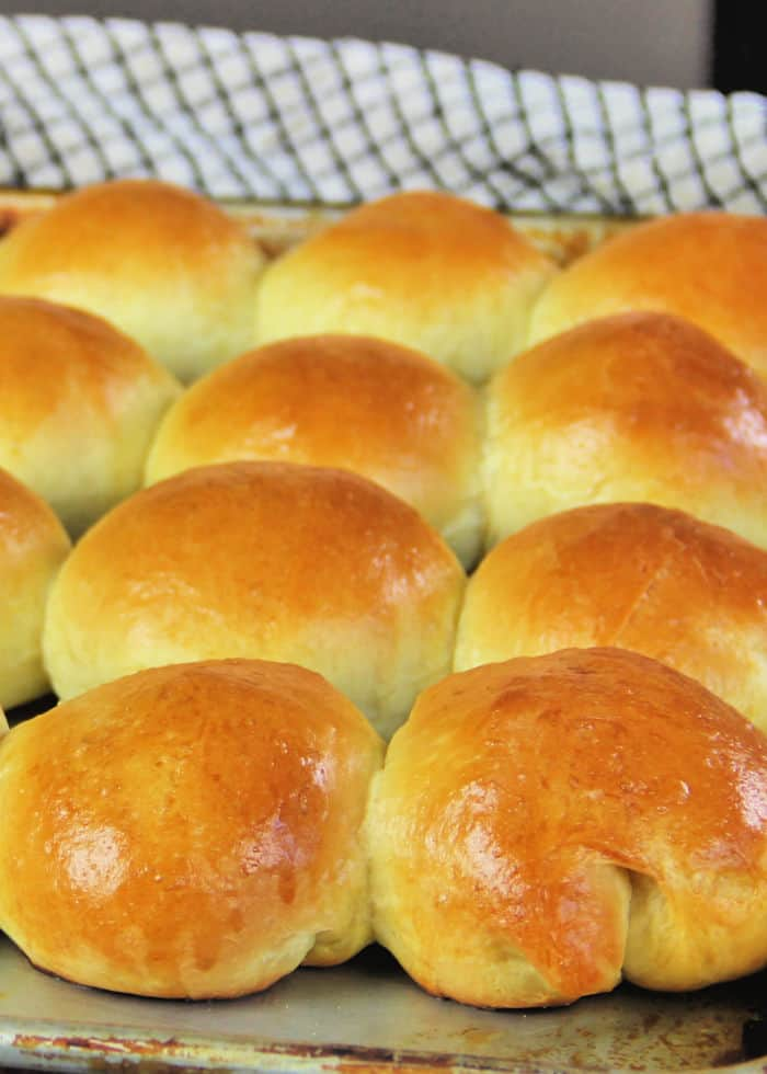 Golden Yeast Rolls out of the oven