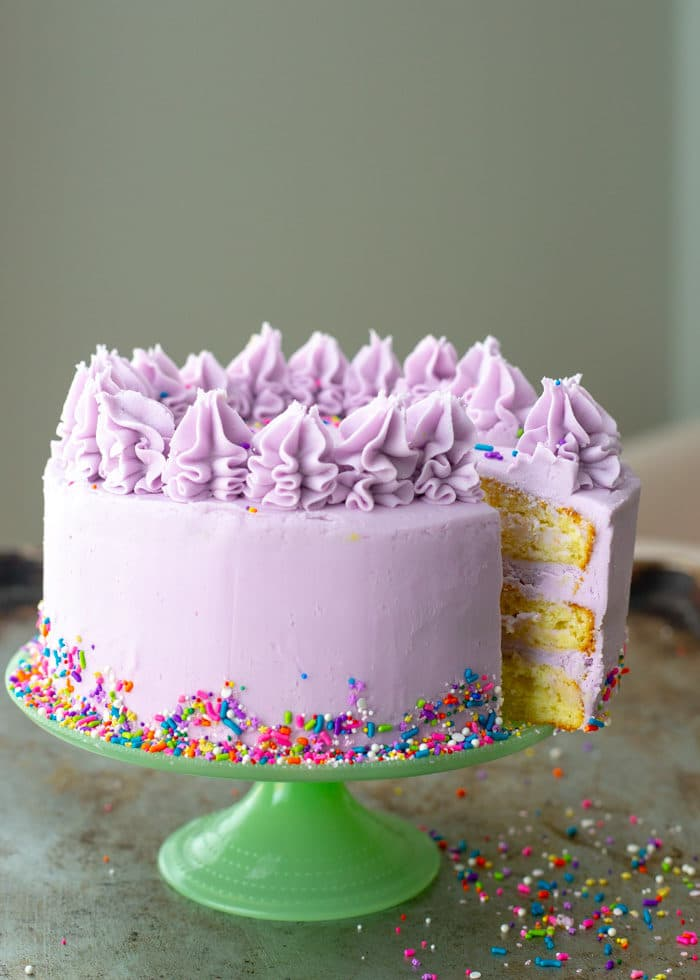 Amazing How To Make A Layer Cake Crumb Coat Fill Frost Baker Bettie Funny Birthday Cards Online Hendilapandamsfinfo