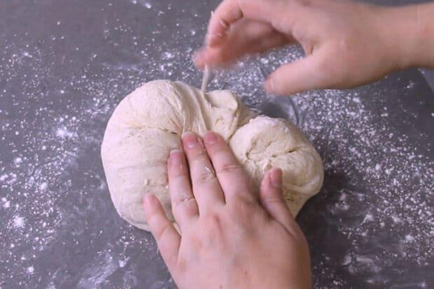 Shaping sourdough into a boule