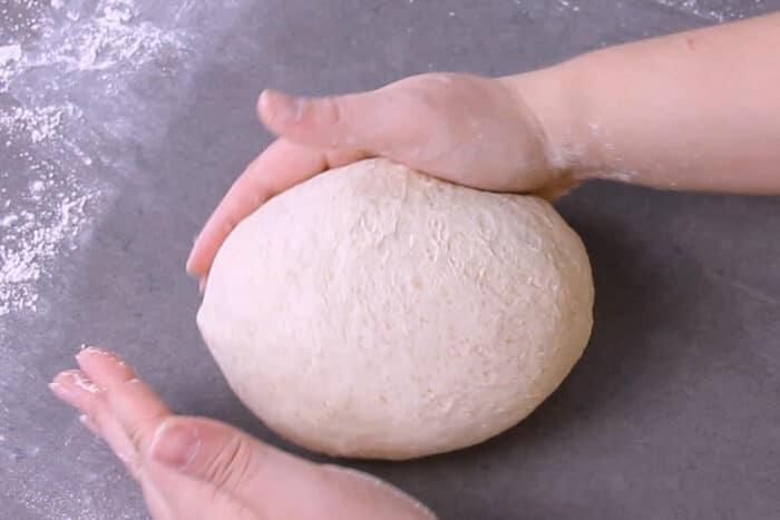 Rounding dough into a boule